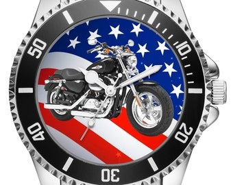 Gift for Harley Davidson Sportster motorcycle fan Driver Watch 20301