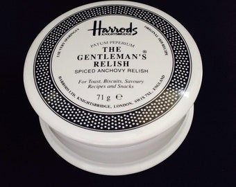 Harrods Gentlemans relish ceramic pot