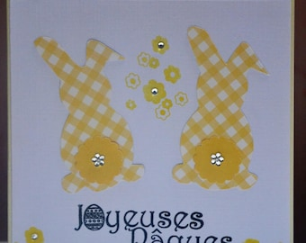 Child bunnies Easter card