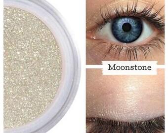 Golden Beige Eyeshadow, MOONSTONE, Mineral Eye Color Eyeshadow, Golden Beige Eye, Vegan Eye Shadow, Cruelty Free Beauty, Natural Eyeshadow