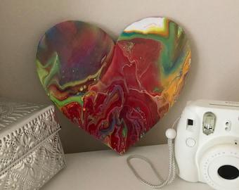 multicolor fluid art painting