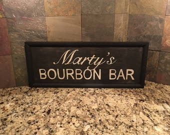 Personalized Bourbon Sign, Bourbon Lover Gift, Personalized Gift, Bourbon Gift, Bourbon Sign, Personalized Sign, Man Cave Decor, Wall Art