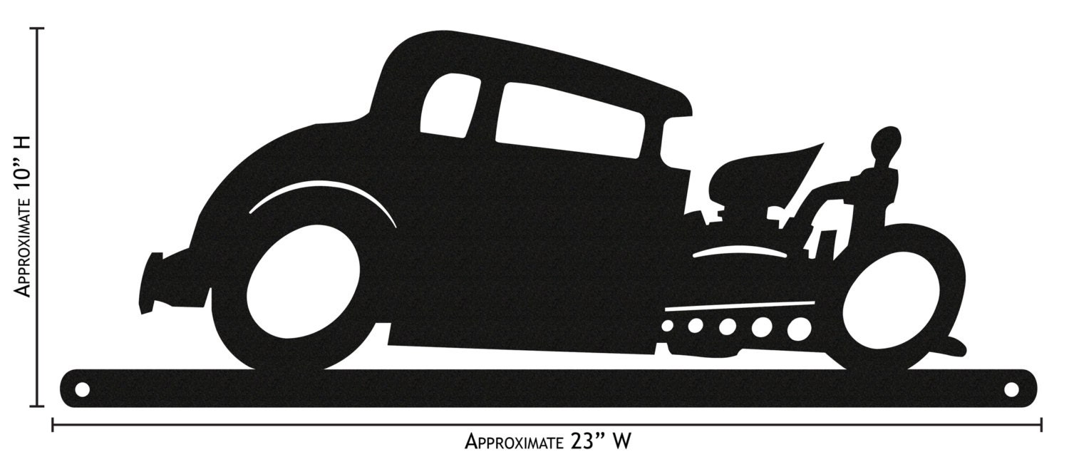 Hand Made Farrell Hot Rod Simple Silhouette New