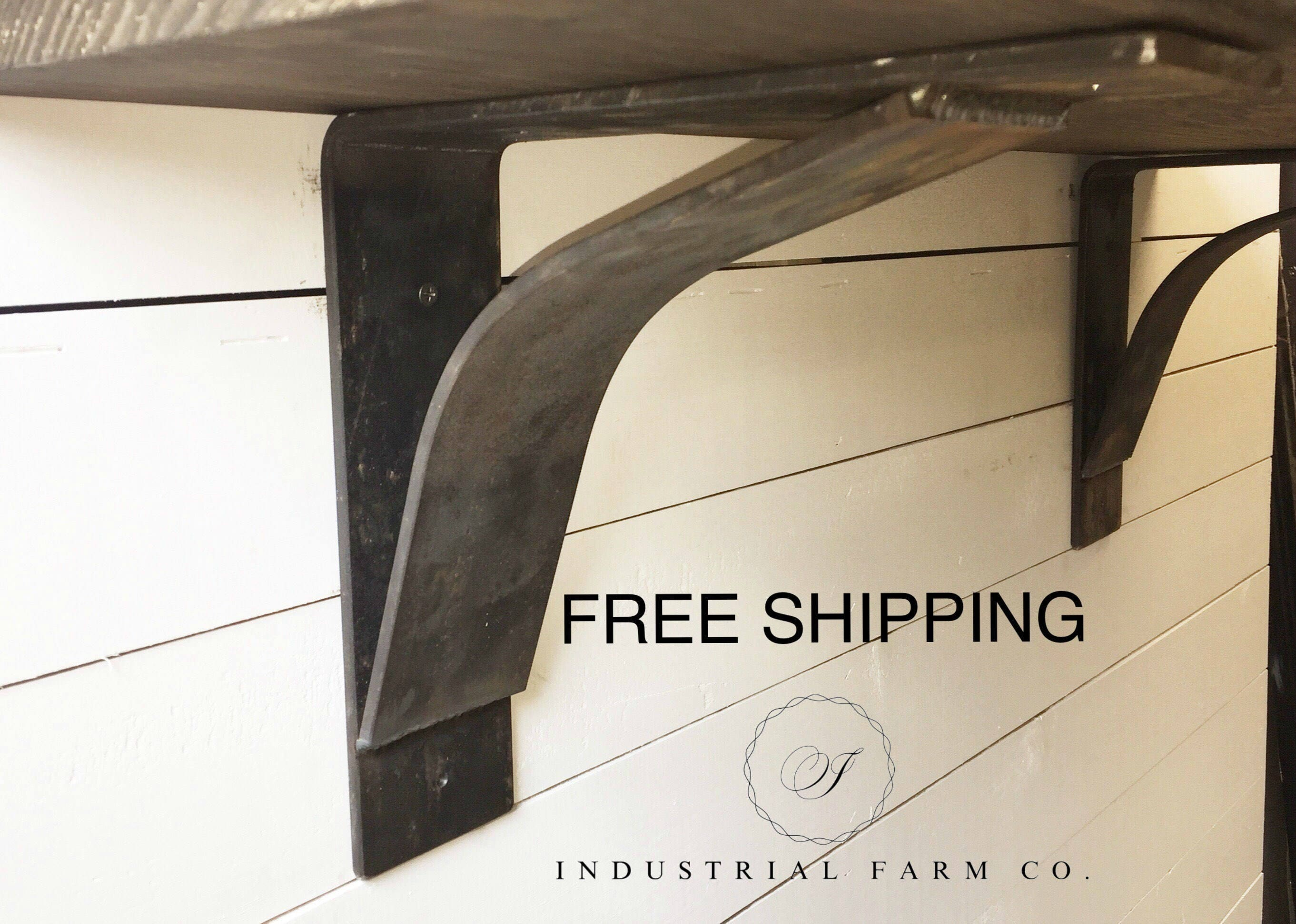 certain you rustic shelf steel can is brackets ways any style farmhouse be industrial metal good