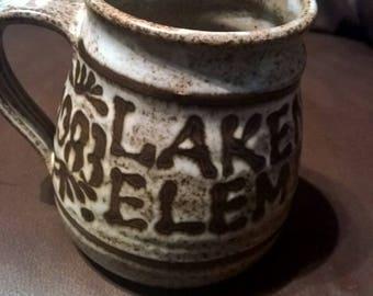 Vintage 1983 1984 Lakenheath Elementary Handmade Mug