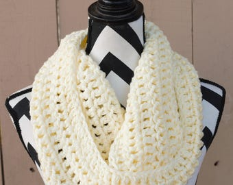 Ready to Ship Light Yellow Infinity Scarf