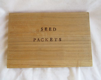 Seed Packet Wooden Storage Box Re Purposed Wooden Storage Box Home and Living Garden Shed Storage Seed Wooden Seed Box Home and Garden Box