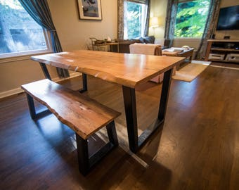 Custom Live Edge Tables and Benches