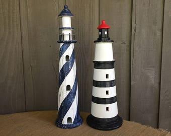 Vintage wood lighthouses/ vintage lighthouses/ distressed vintage lighthouses/ lighthouses/ nautical decor/ distressed nautical decor/ decor