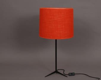 Tischlampe Jute Rot Orange