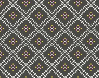 Stay Gold Jenny's Plaid Smoke Organic Cotton Fabric