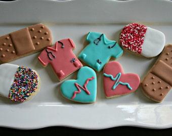 Nurse Cookies-Nurse Appreciation Cookies, Doctor Appreciation Cookies
