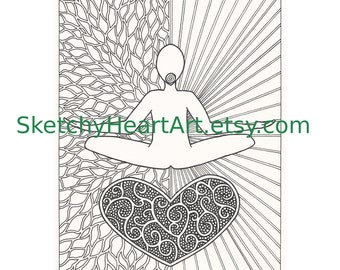 Self Healing Coloring Page