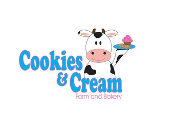 Bakery Logo Design, Cow Logo