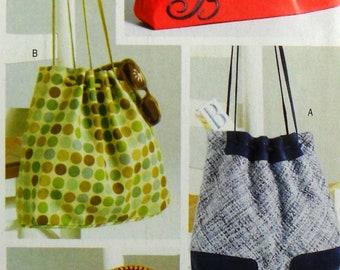 UNCUT Butterick See & Sew B4645 handbags