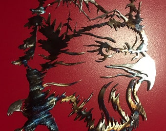 Eagle Scene Metal Art
