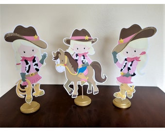 Cowgirl Centerpieces, Cowgirl Birthday Centerpiece, Cowgirl baby shower decorations, cowgirl theme, Party centerpiece