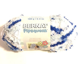 Bernat Pipsqueak, Bernat yarn, Pipsqueak yarn, Bernat baby yarn, very soft yarn, variegated yarn, color change yarn, bulky yarn, fluffy yarn