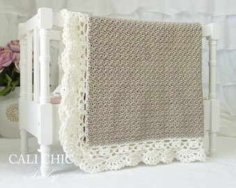 Crochet Baby Blanket PATTERN 144 - Claire - Elegant Crochet Pattern - Instant Download