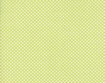 VINTAGE HOLIDAY Bonnie & Camille Vintage Christmas Dots in Light Green 1 Yard Moda Fabric