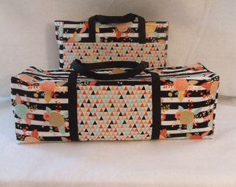 Silhouette Cameo 3 Carrying Case / Cricut Explore Air / Cricut Maker / Accessory Bag / Accessory Bag / Mint, black Coral Floral Print