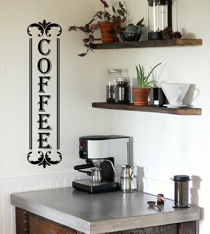 Küche Wand Aufkleber Küche Küche Wandtattoo Kaffeebar