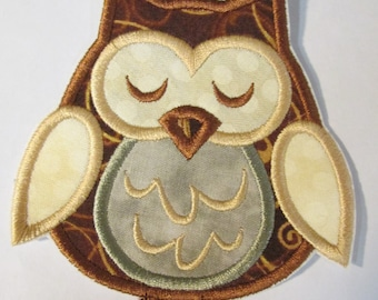 Boy Owl - Ready To Ship in 1-3 Business Days - Iron On or Sew On Embroidered Applique