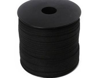 Suedine meter 3 mm black cord