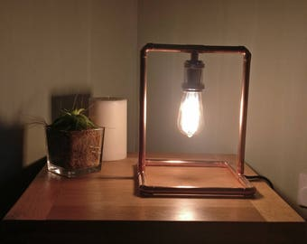 Industrial handmade copper lamp
