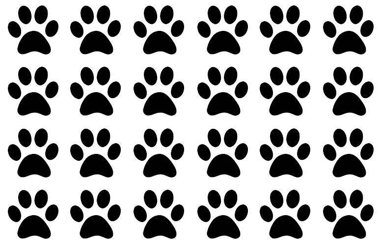 35 Paw Print Stickers Animal Seals Party Favor