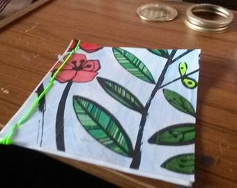 20 Page Flower Mini Notebook