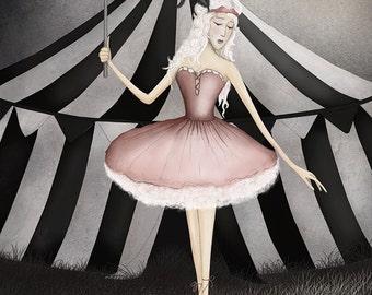 Circus ballerina - Art print (3 different sizes)