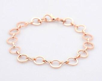 Rose gold link rings
