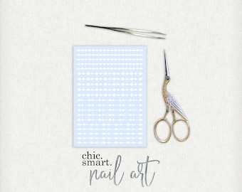 Circle Bead String Nail Decals - Vinyl Nail Decals : 32 Color Choices