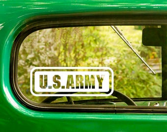 2 US Army Decals, United States Army, Army Decal, US Military Decal, Army Sticker, Bulk Decals, Laptop Sticker, Wholesale