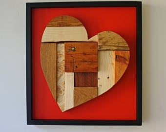 wooden heart - wall art