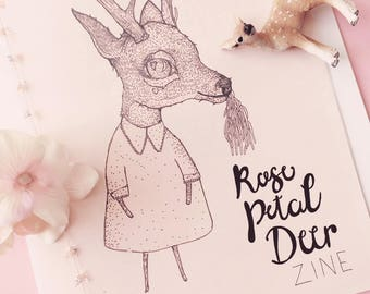 Rose Petal Deer Pink ZIne Issue 1