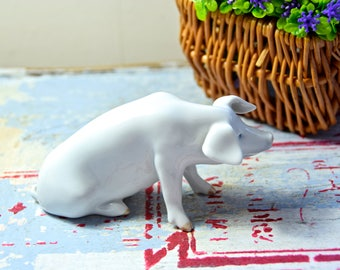 Royal Copenhagen pig porcelain / Royal Copenhagen pig / Royal Copenhagen animal porcelain / pig porcelain / Danish porcelain / Danish maker