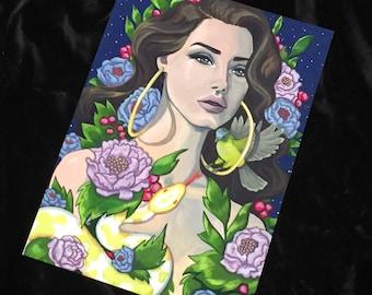 A4 Lana del Rey print
