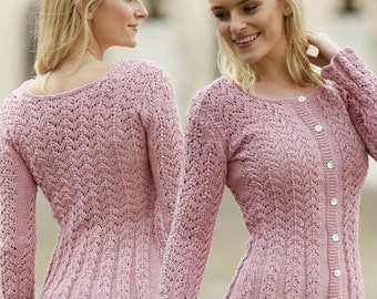 """Hand-Knitted Lace Cardigan..""""Love is in the Air"""" - MADE TO ORDER"""