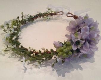 Romantic floral crown - bridal wreath