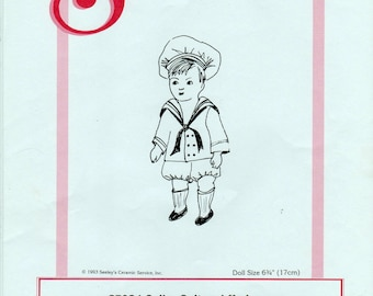 "Seeley's Dollmaker's Pattern No. CP934 Sailor Suit and Underwear for Sweet William and other 6.75"" All-Bisque dolls"
