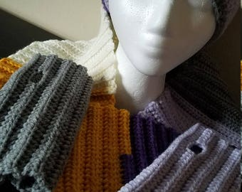 Slouchy Hat with matching scarf and fingerless glove set