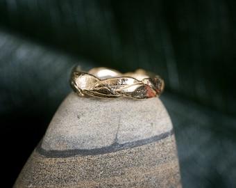 14k Large Leaf Ring | 14k Yellow Gold, 14k Rose Gold, or 14k White Gold | Nature Inspired