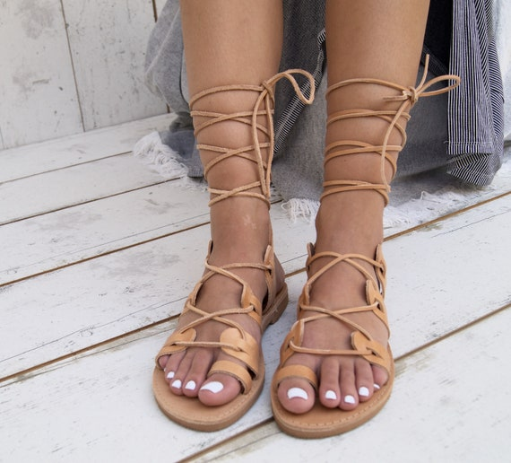 Greek sandals sandals sandals classic toe roman sandals leather handmade ring ancient NATURAL leather ISMENE sandals sandals T5vwtt