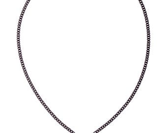 Liebe Halskette, rote Herz Charm Halskette, Valentinstag Geschenk für sie, romantische Schmuck, Medium Herz rot und schwarz Halskette, kostenloser Versand