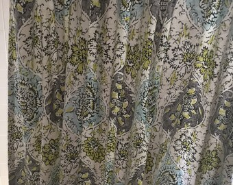 Waverly designer fabric handmade fabric extra wide shower curtains