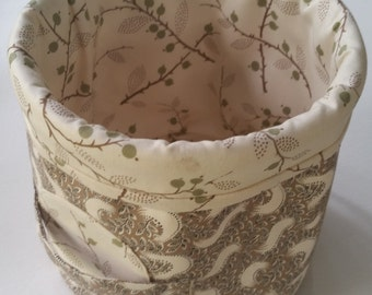 Fabric Bucket with Handles