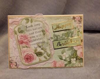 Very feminine floral Birthday card