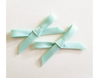 Mint green spring pigtail Handtied bows